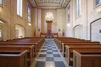 Dutch Church, Austin Friars - Interior view towards the East