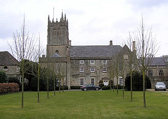 Bitton - The Grange and church in Bitton