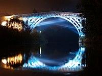 The Iron Bridge, Illuminated - geograph.org.uk - 1302663.jpg