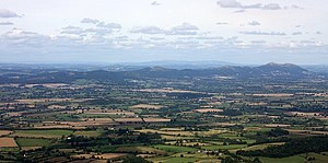 The Making of the English Landscape - The Malvern Hills above the Severn plain of the English West Midlands