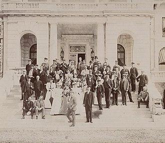 Mendelssohn Glee Club - The Mendelssohn Glee Club at the estate of Commodore Elias Cornelius Benedict in Greenwich, Connecticut, 1897