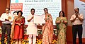 The Minister of State for Human Resource Development, Shri Upendra Kushwaha presenting the CBSE Teachers Award 2017-18, at a function, in New Delhi (1).JPG
