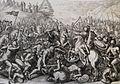 The Phillip Medhurst Picture Torah 423. Joshua fighting Amalek. Exodus cap 17 vv 10&13. Galle.jpg