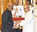 The President, Shri Pranab Mukherjee presenting the Padma Bhushan Award to Dr. Duvvur Nageshwar Reddy, at a Civil Investiture Ceremony, at Rashtrapati Bhavan, in New Delhi on March 28, 2016.jpg