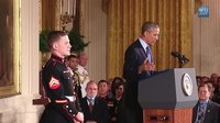 "File:The President Awards the Medal of Honor to Corporal William ""Kyle"" Carpenter.webm"