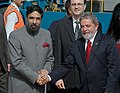 The President of Federal Republic of Brazil Mr.Luiz Inacio Lula Da Silva, being received by the Minister of State for External Affairs, Shri Anand Sharma on his arrival at Delhi Airport, in New Delhi on June 3, 2007.jpg