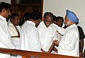 The Prime Minister, Dr. Manmohan Singh consoled a family member of the former Chief Minister of Andhra Pradesh, late Dr. Y.S. Rajasekhara Reddy, in Hyderabad, Andhra Pradesh on September 04, 2009.jpg