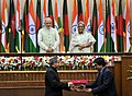 The Prime Minister, Shri Narendra Modi and the Prime Minister of Bangladesh, Ms. Sheikh Hasina witnessing the exchange of agreements between India & Bangladesh, in Dhaka, Bangladesh on June 06, 2015 (2).jpg