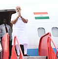 The Prime Minister, Shri Narendra Modi arrives, at Bhubaneswar, in Odisha on September 22, 2018.JPG