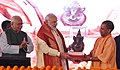 The Prime Minister, Shri Narendra Modi at the foundation stone laying ceremony of Poorvanchal Expressway, in Azamgarh, Uttar Pradesh.JPG