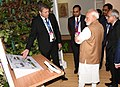 The Prime Minister, Shri Narendra Modi visiting the 'Virtual Digital Exhibition', at the inauguration of the Global Mobility Summit, organised by NITI Aayog, in New Delhi (1).JPG