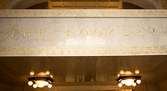 Rookery Building - The name over the entrance