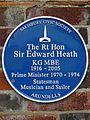 The Rt Hon Sir Edward Heath KG MBE 1916-2005 Prime Minister 1970-1974 Statesmen Musician and Sailor Arundells.jpg