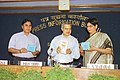 The Secretary, Ministry of Information and Broadcasting Shri Pawan Chopra releasing Vol. I of the Handbook on General Elections- 2004, prepared by Press Information Bureau, in New Delhi on March 10, 2004.jpg