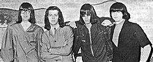 The group in 1966. From left: Rick Andridge, Daryl Hooper, Sky Saxon, and Jan Savage