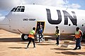 The UN Special Representative for Somalia, James Swan, arrives at Kismayo Airport on a visit to Jubaland, southern Somalia. .jpg