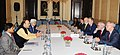 The Union Minister for Finance, Corporate Affairs and Defence, Shri Arun Jaitley at a meeting with the President, European Investment Bank (EIB), Mr. Werner Hoyer, in New Delhi.jpg