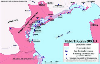 Republic of Venice - The Venetia c 600 AD