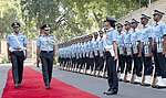 The Vice Chief of Air Staff, Air Marshal Anil Khosla inspecting the Guard of Honour, in New Delhi on October 01, 2018.jpg