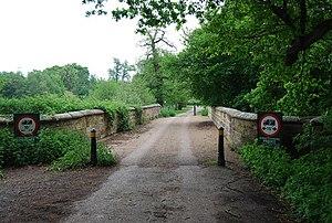 Somerhill House - Image: The bridge, Somerhill lake