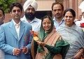 The first winner of an individual Gold Medal for India at the Beijing Olympic Games and International Shooting Ace, Shri Abhinav Bindra meeting with the President, Smt. Pratibha Devisingh Patil, in New Delhi.jpg