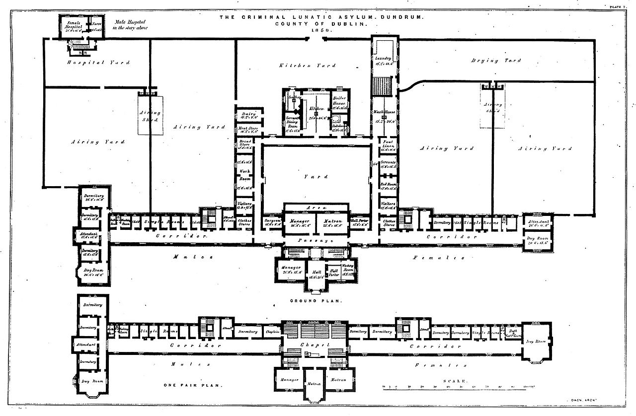 File The Floor Plan With Scale Of The Criminal Lunatic