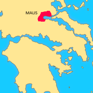 Malians (Greek tribe) - The location of Malis