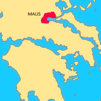 Malians (Greek tribe) - The location of Malis