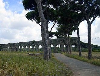 Parco degli Acquedotti - Aqua Claudia in the Parco degli Acquedotti