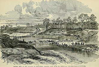 Red River Campaign - Banks's army crossing the Cane River, March 31, 1864
