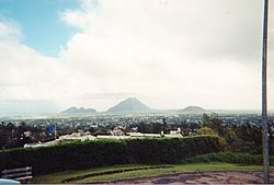 The view from Trou aux Cerfs, one of the highest points in Curepipe.