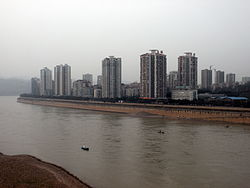 Skyline of Jiangjin along the Yangtze.