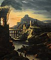 Theodore Gericault- Evening landscape with an aqueduct, 1818FXD.jpg