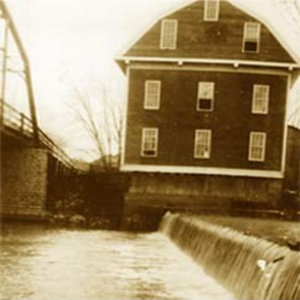 War Eagle Mill - The third mill, which existed from 1873 to 1924, seen here in 1920.
