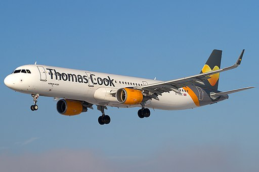Thomas Cook Airlines Airbus A321-211 on finals into Salzburg Airport