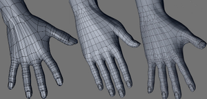 MakeHuman - Evolution of the hand topology