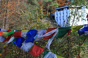 Buddhism in Switzerland - The Tibet Institute Rikon located in Zell-Rikon in the Töss Valley (November 2009)