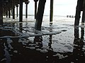 Tide flow under Lowestoft Pier - geograph.org.uk - 1462475.jpg