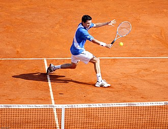 Tim Henman - Henman in the first round of the 2007 Monte-Carlo Masters.
