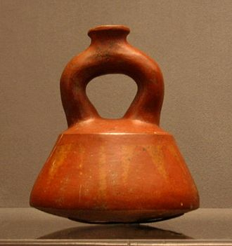 Tlatilco culture - Usually associated with the Moche, this stirrup jar is from Tlatilco, 1100 - 800 BCE.
