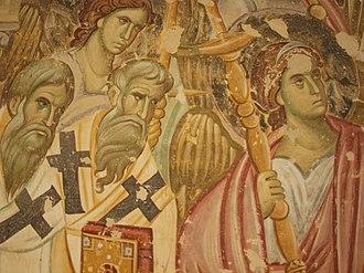 Sopoćani - Image: Tod der Gottesmutter Sopocani