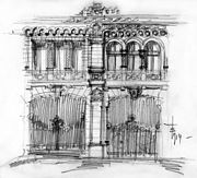 Facade sketch. Extract from the Toma T. Socolescu's sketches notebook.