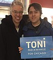 Toni Preckwinkle with supporter 2019 (cropped).jpg