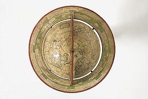 English: Top view of 1765 de l'Isle globe A 17...