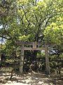 Torii in front of Site of Former Main Hall in Miyajidake Shrine.jpg