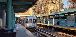 Rapid transit commuter railroad in Staten Island, New York