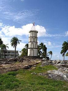 La Torre Dreyfus, utilizzata per comunicare con le Isole du Salut.