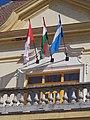 Town hall, flags, 2019 Mezőtúr.jpg