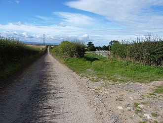 Wroxeter and Uppington - Track from Uppington towards Uckington.