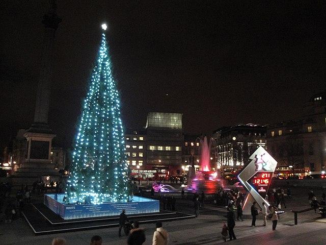 FileTrafalgar Square Christmas Tree 2011 And London